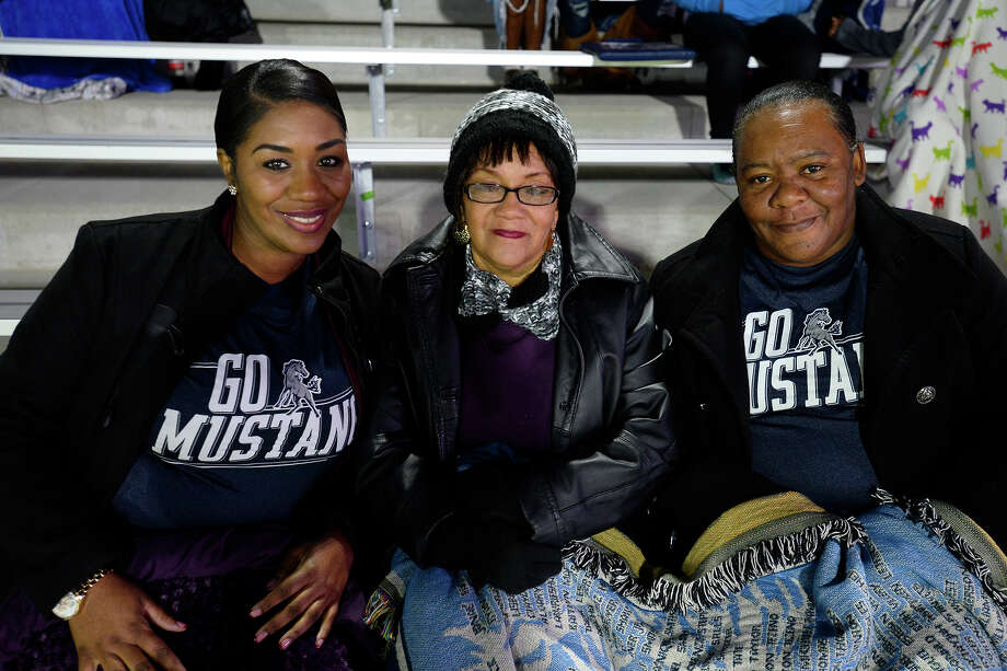 Destiny Turner, Donna Hilstock and Kathy Turner before West Orange-Stark takes on Wimberley in the Class 4A Division 2 state semifinal game at Legacy Stadium in Katy on Friday night.  Photo taken Friday 12/15/17 Ryan Pelham/The Enterprise Photo: Ryan Pelham / ©2017 The Beaumont Enterprise/Ryan Pelham