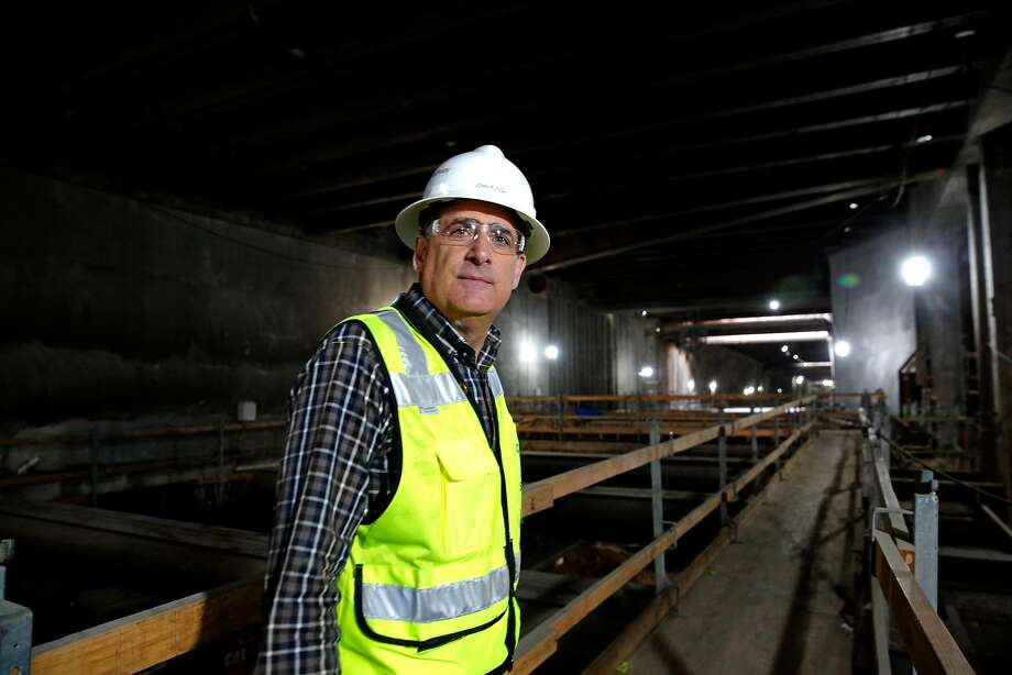 Central Subway project director, John Funghi  below the surface in San Francisco, Ca., as seen on Wednesday July 12, 2017. Photo: Michael Macor, The Chronicle