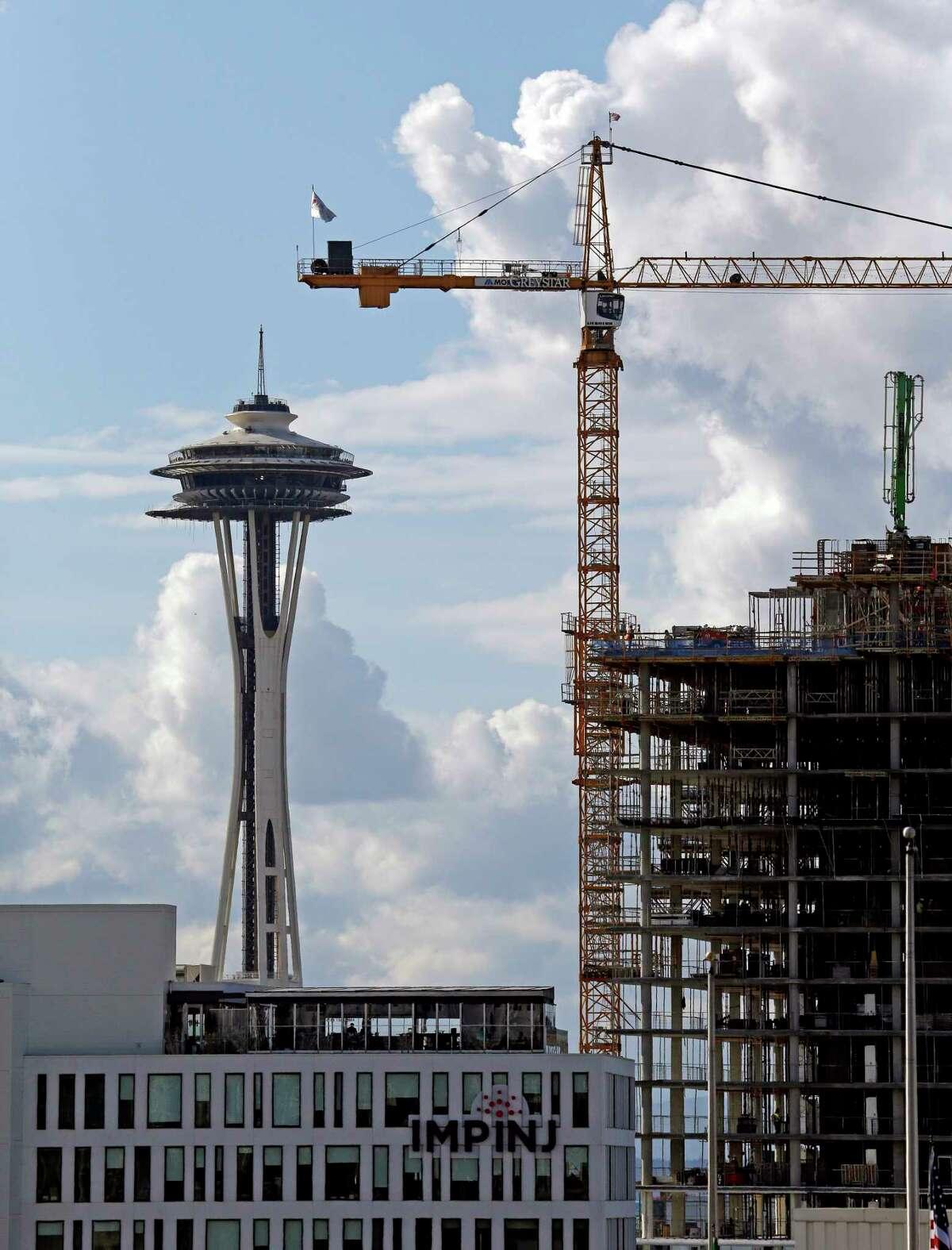 1. Seattle 65 cranes
