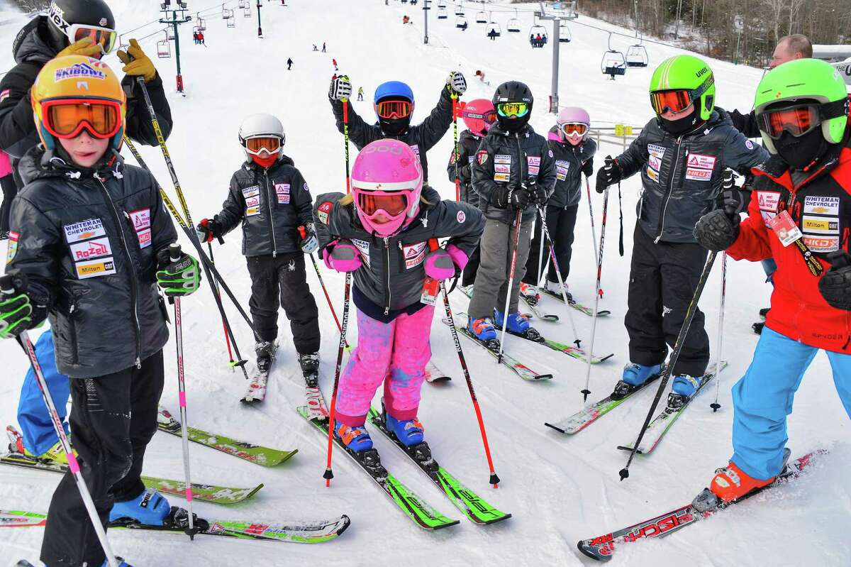 West Mountain ski team under 10's take to the slopes as West Mountain Ski Area opens for the season Saturday Dec. 16, 2017 in Queensbury, NY. (John Carl D'Annibale / Times Union)