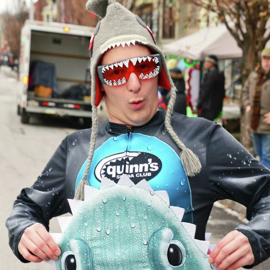"Hometown: East GreenbushNumber of times running: 5Preparation: ""I had to get this outfit to stay on!""Why he ran: ""I do it all for the team! We dress up as sharks every year, and every year it's a blast."" Photo: John Carl D'Annibale, Albany Times Union / 20042261A"