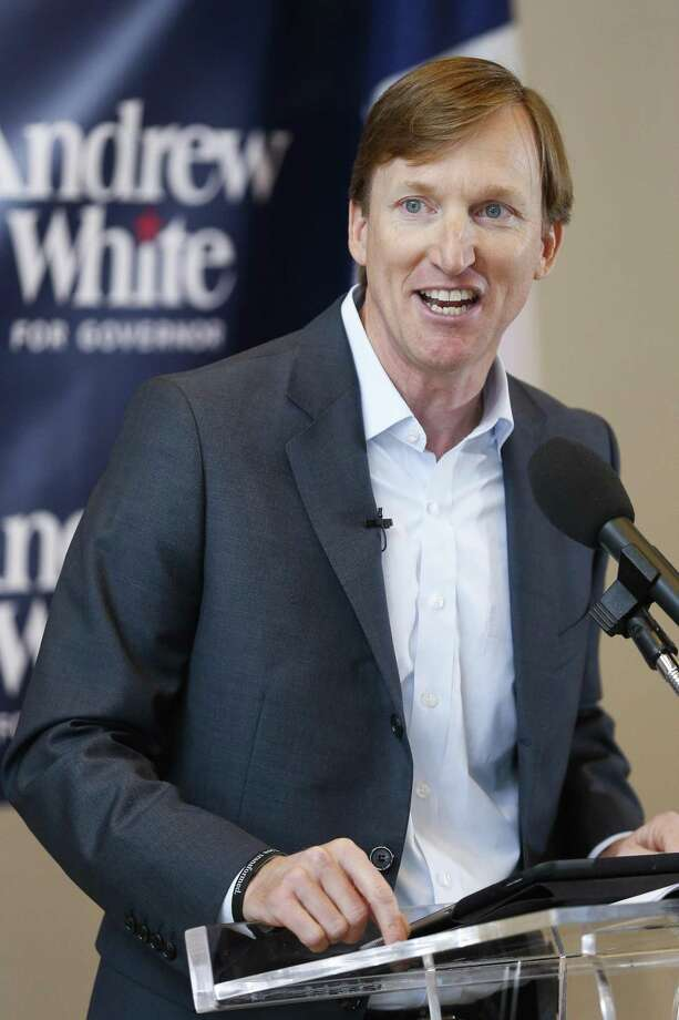 Andrew White, son of former Texas Gov. Mark White, launches his campaign for governor in Houston. Photo: Michael Ciaglo /Houston Chronicle / Michael Ciaglo