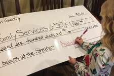 """Nederland 6-year-old Austyn Guidry made a big donation """"to the babies"""" after saving up for over a year."""