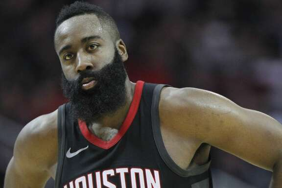 Houston Rockets guard James Harden (13) reacts after being fouled in the second half against the San Antonio Spurs at the Toyota Center on Friday, Dec. 15, 2017, in Houston. Rockets won the game 124-109. ( Elizabeth Conley / Houston Chronicle )