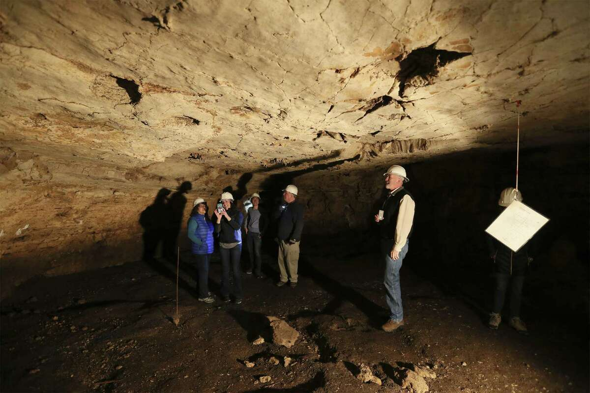 Some people were given a tour of Friesenhahn Cave on Dec. 9. In the 1990s, a developer who purchased the land donated it to Concordia University, which officially took possession of the property in 1999, county records indicate.