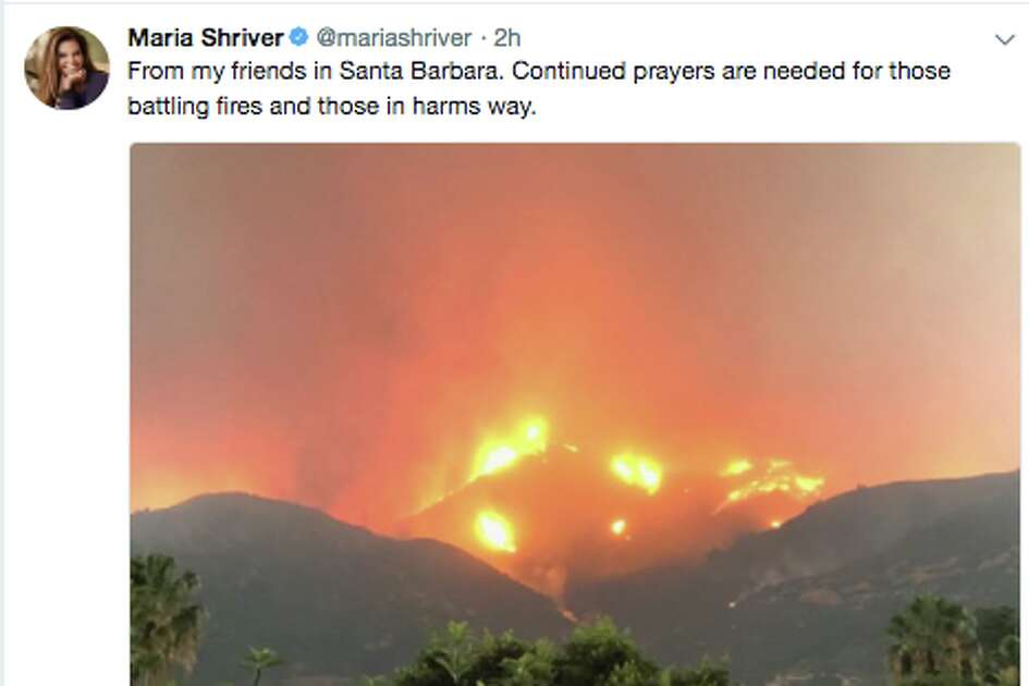 Celebrities took to social media to voice their feelings as the Thomas Fire spread through Southern California.