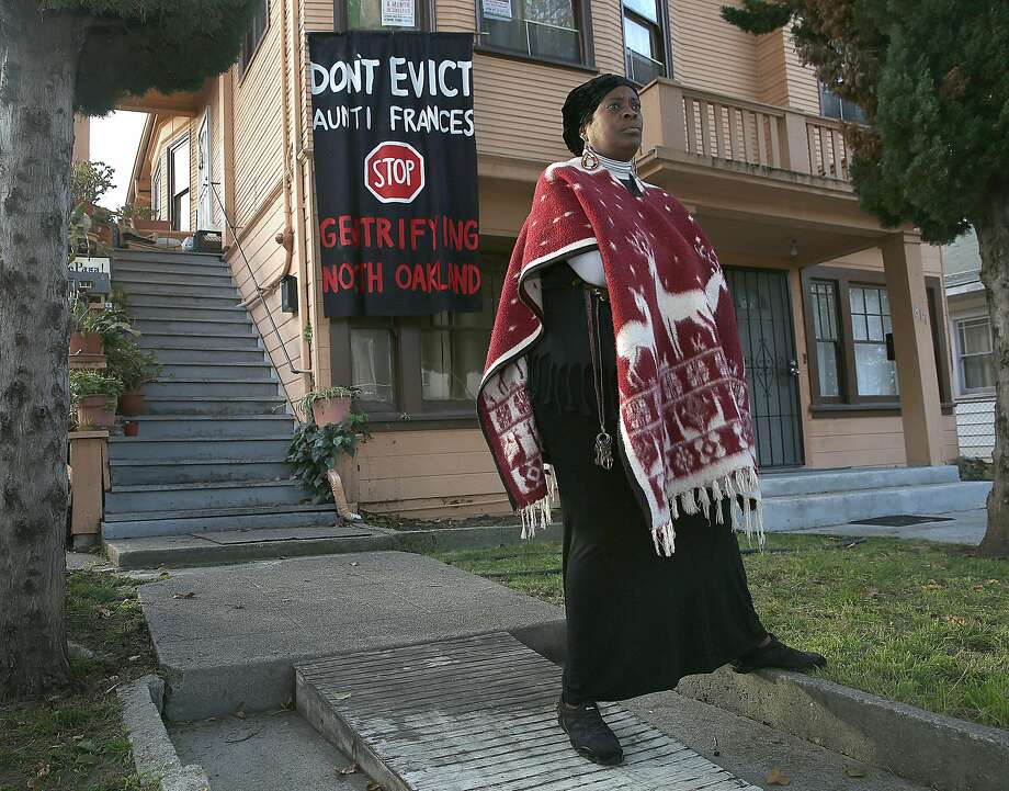 Community leader Frances Moore is being evicted from the home she's lived in for eight years. Photo: Liz Hafalia, The Chronicle