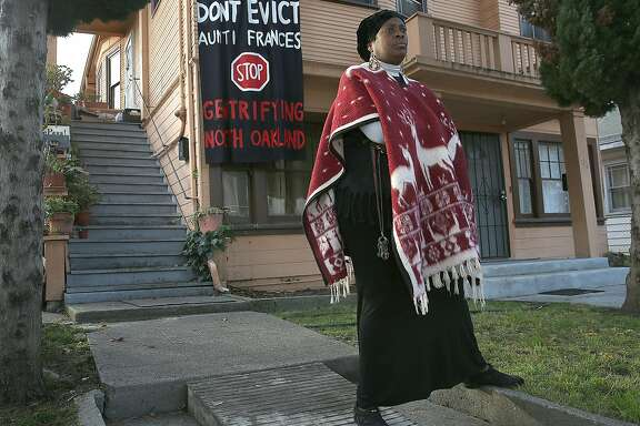 Community leader Frances Moore, former member of the Black Panthers is being evicted from a home she's lived in for the past 8 years on Friday, December 15, 2017, in Oakland, CA.