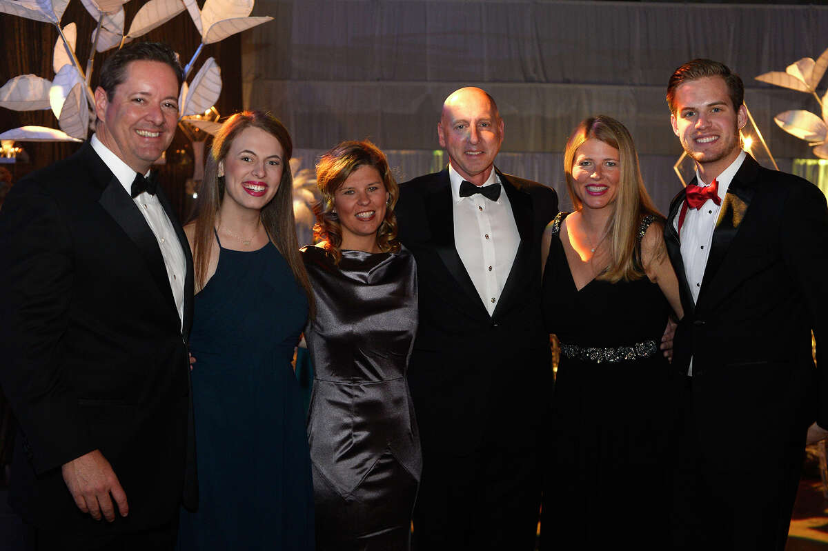 From left: Stephen Mouton, Chelsea Claflin, Lexie Mouton, David Claflin, Ledona Claflin and Brennan Claflin at the Symphony League of Beaumont's annual ball at the Beaumont Civic Center on Saturday night. The event provides support for the League and the Symphony of Southeast Texas. Photo taken Saturday 12/16/17 Ryan Pelham/The Enterprise