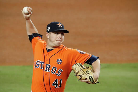 Brad Peacock will likely compete with Collin McHugh for a rotation spot during spring training but Astros manager A.J. Hinch says Peacock can fill a lot of roles.