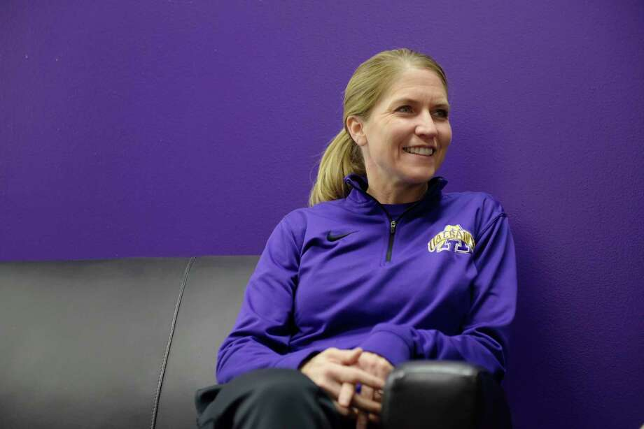 UAlbany women's basketball coach Joanna Bernabei-McNamee talks about her life and her team during an interview on Tuesday, Dec. 12, 2017, in Albany, N.Y.  (Paul Buckowski / Times Union) Photo: PAUL BUCKOWSKI / 20042400A