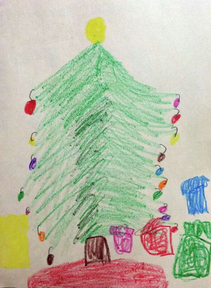 Oh, Christmas Tree. Oh, Christmas Tree. How lovely are thy branches. Karlie Taylor, a student in San Jacinto County, drew this picture to accompany her letter to Santa. Photo: Submitted