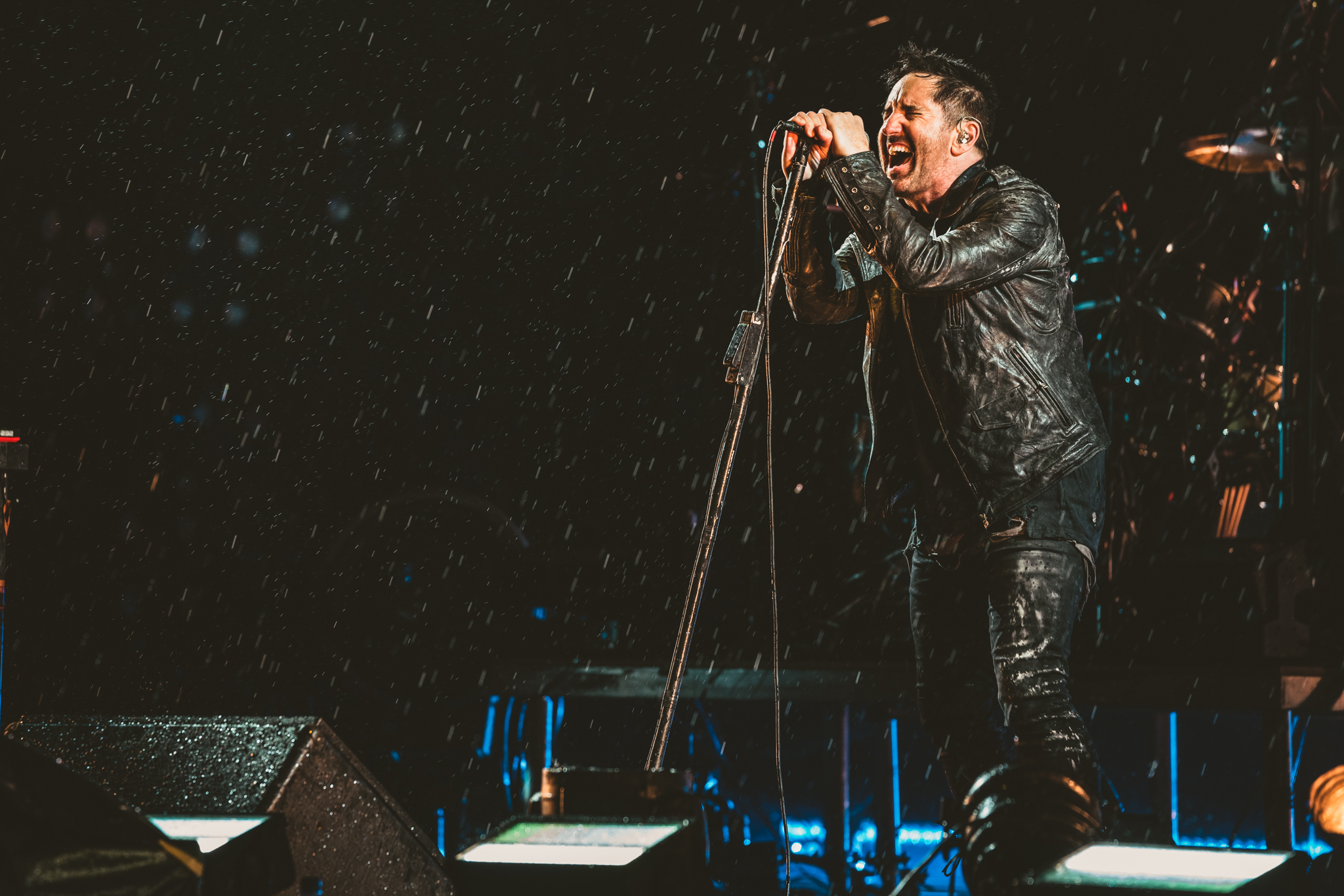 Trent Reznor of Nine Inch Nails and his wife take in the best of Houston