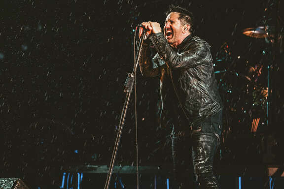 Trent Reznor and Nine Inch Nails perform a rainy set at Day for Night. (Courtesy photo)