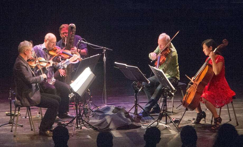 Ralph Carney sits in with the Kronos Quartet. Photo: Courtesy Of The Artist