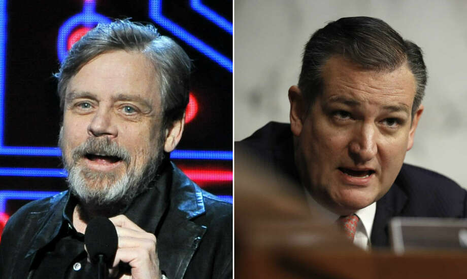 Mark Hamill and Ted Cruz got into a Twitter battle Sunday, but Cruz lost terribly. This quickly prompted dozens of memes. Photo: Allen Berezovsky/Getty Images, Carolyn Kaster/Associated Press