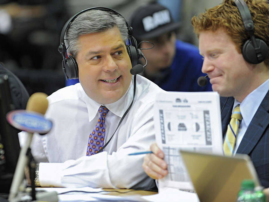 Click through the slideshow for 20 things you may not know about area sports broadcaster Rodger Wyland. Photo: Lori Van Buren/Albany Times Union