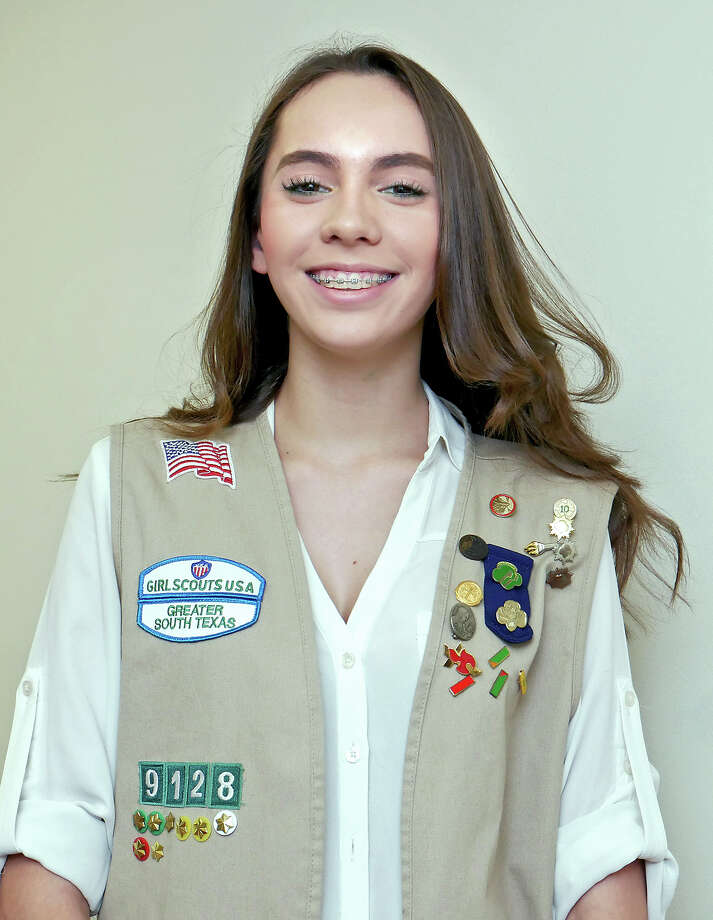 Lauren Melendez, 17, has been involved with the Girl Scouts of Greater South Texas since elementary school. She says the organization has taught her invaluable life skills. Photo: Cuate Santos
