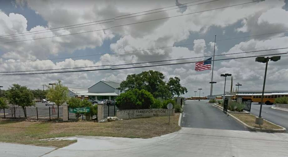 The fire ignited around 4:30 a.m. inside a maintenance building at the north terminal in the 24000 block of U.S. Highway 281. Photo: Google Maps