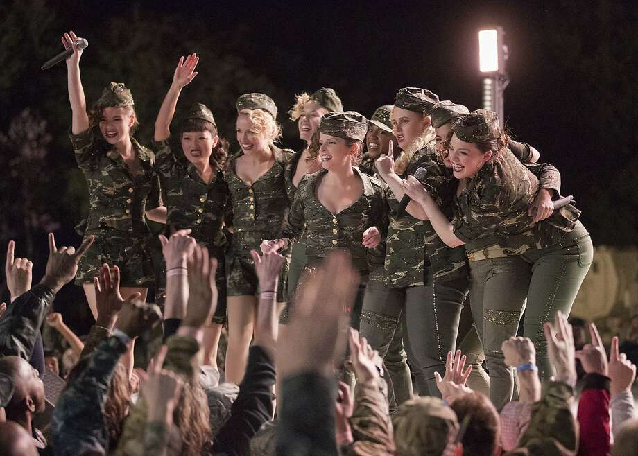 "The Bellas, now out of college, are having failure-to-launch issues so they drop everything and jump on a tour of military bases in conveniently fabulous cities ""Pitch Perfect 3."" Photo: Quantrell D. Colbert, Associated Press"