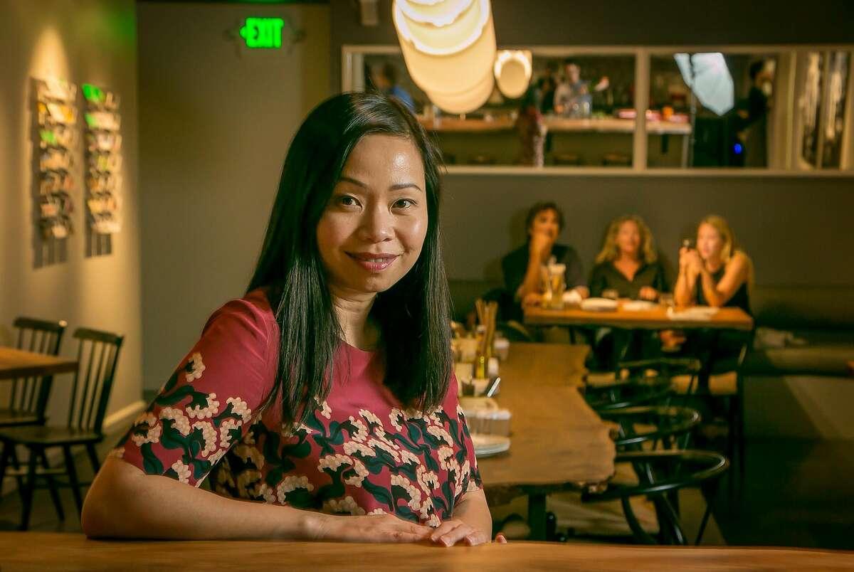 Owner Pim Techamuanvivit of Kin Khao in San Francisco, Calif., is seen on Monday, April 28th, 2014.