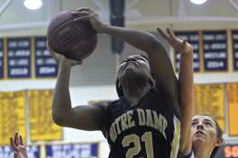 Notre Dame-Fairfield forward Gabby Joseph averaged 15 points and 10 rebounds last season for the Lancers.