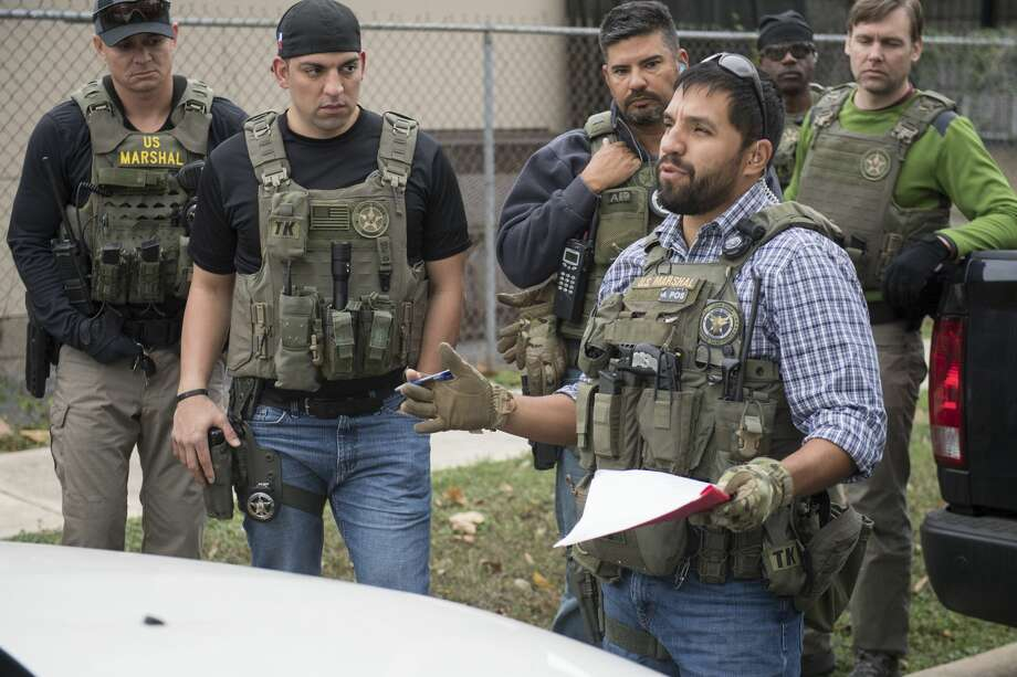 Between Sept. 18 and Dec. 15, 2017, the U.S. Marshals Service Lone Star Fugitive Task Force, San Antonio Police Department, Bexar County Sheriff's Office and Texas Department of Public Safety conducted a gang and violence reduction initiative called Operation Triple Beam. It resulted in 215 arrests, 70 guns seized and $176,153 worth of drugs seized. Photo: Shane T. McCoy / US Marshals