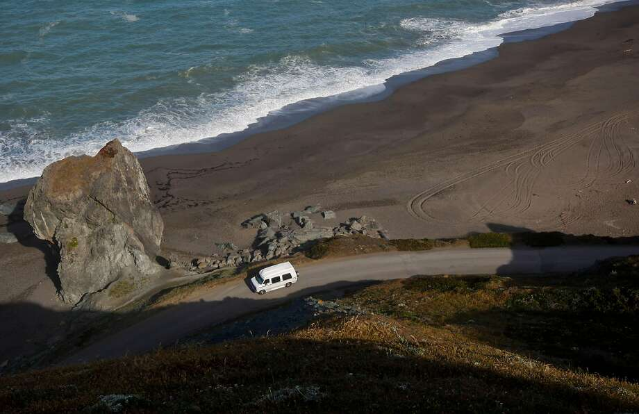 A 6-year-old boy and his father drowned Sunday afternoon at Goat Rock State Beach near Jenner (pictured in this 2013 file photo) when a strong rip current pulled the son into the ocean and the father tried to rescue him, authorities said. Photo: Michael Macor, The Chronicle