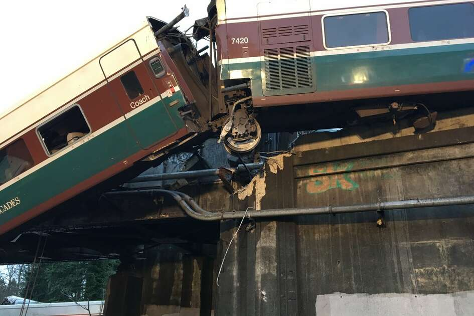 An Amtrak train derailed onto Interstate 5 near DuPont on Monday.