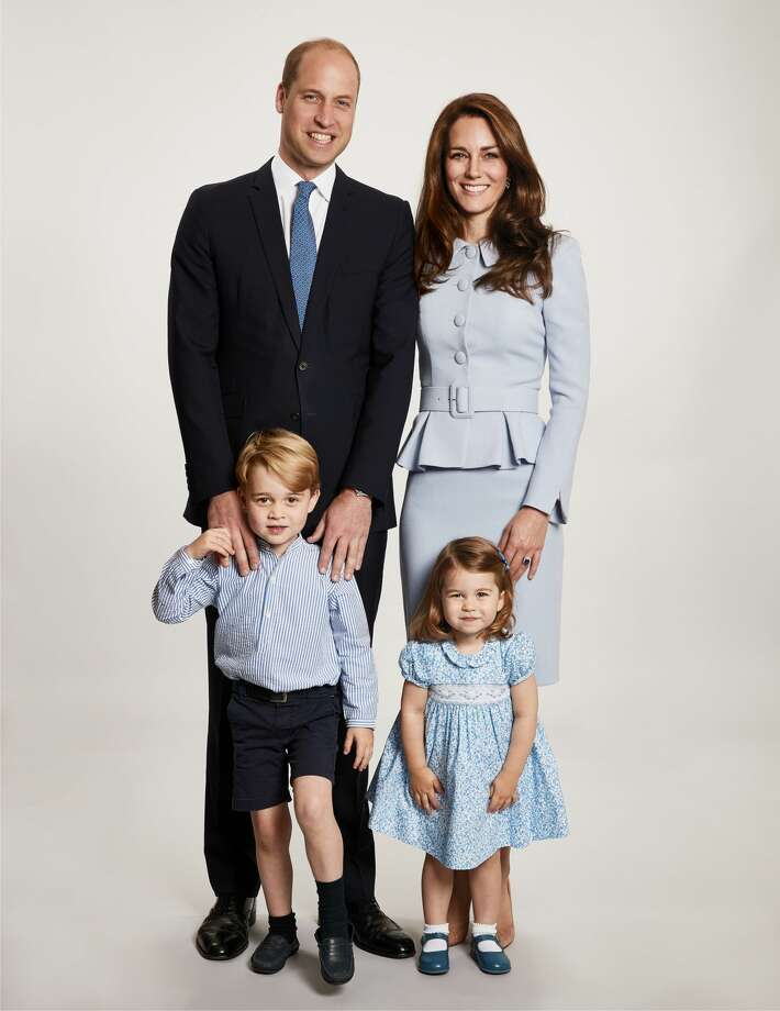 Image shows picture used for the Duke and Duchess of Cambridge's 2017 Christmas card which was taken by Getty Images royal photographer Chris Jackson at Kensington Palace showing the royal couple with their children Prince George and Princess Charlotte, Issued on December 18, 2017, in London, England. Continue through the photos to see the photos of Kate Middleton through the years. Photo: Handout/Kensington Palace Via Getty Imag