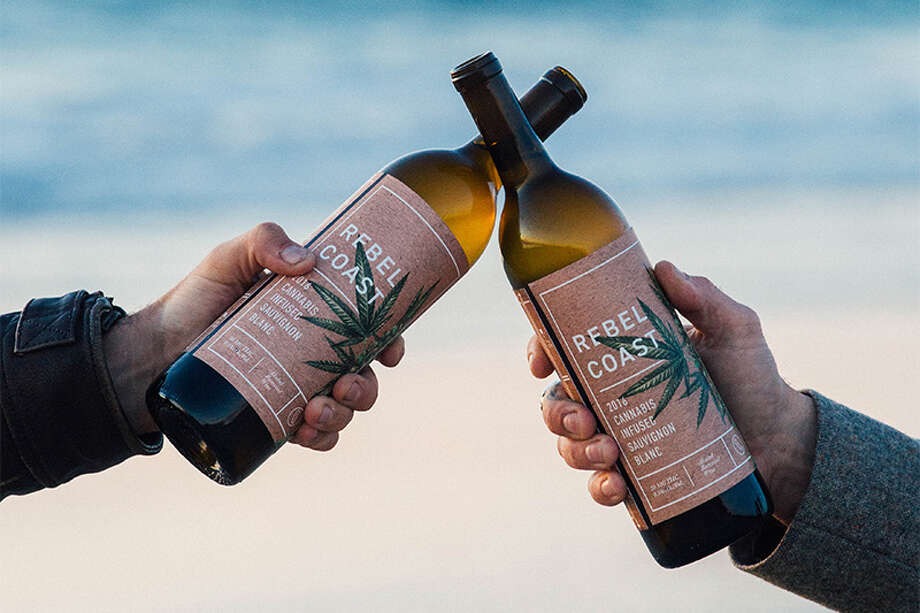 Rebel Coast Winery will begin selling a marijuana-infused sauvignon blanc in California starting in January 2018. Each glass contains 4 milligrams of THC. Photo: Rebel Coast Winery
