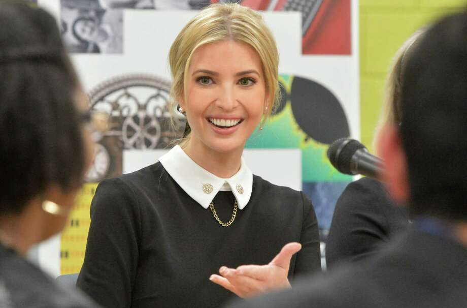 Ivanka Trump, White House Advisor, speaks with students in the Norwalk Early College Academy who are set to graduate early this spring at Norwalk High School on Monday December 18, 2017 in Norwalk Conn. NECA is part of a growing network of P-TECH schools, an innovative education model developed by IBM to better equip youth with skills to succeed in college and career. Trump and IBM CEO Ginni Rometty spoke with a half dozen students in the program during a panel discussion to highlight the importance of modern skills and career education.Click through to see images of Ivanka Trump in the news recently. Photo: Alex Von Kleydorff, Hearst Connecticut Media / Norwalk Hour