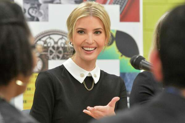 Ivanka trump, White House Advisor, speaks with students in the Norwalk Early College Academy who are set to graduate early this spring at Norwalk High School on Monday December 18, 2017 in Norwalk Conn. NECA is part of a growing network of P-TECH schools, an innovative education model developed by IBM to better equip youth with skills to succeed in college and career. Trump and IBM CEO Ginni Rometty spoke with a half dozen students in the program during a panel discussion to highlight the importance of modern skills and career education.