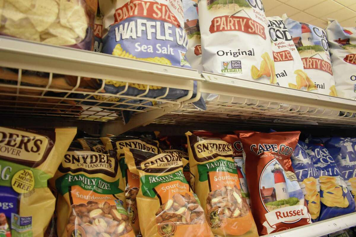 Cape Cod chips and Snyder's of Hanover pretzels on the shelves in Norwalk, Conn. On Dec. 18, 2017, Campbell Soup announced the $14.9 billion acquisition of Snyder's-Lance, which it will add to its snacks division that includes Norwalk-based Pepperidge Farm.