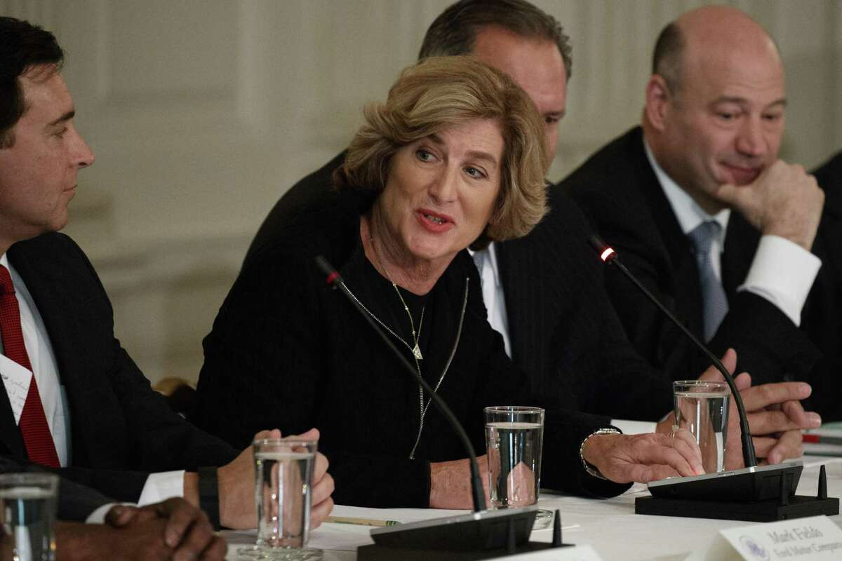 Campbell Soup CEO Denise Morrison speaks in February 2017 at the White House in Washington, D.C. (AP Photo/Evan Vucci, File)