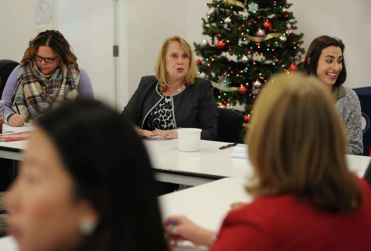 Greenwood Center for Family Justice in Bridgeport, Conn. on Tuesday, December 5, 2017. Greenwood said that numbers of domestic violence incidents tend to decrease during the holidays, but pick up strongly again after New Years.