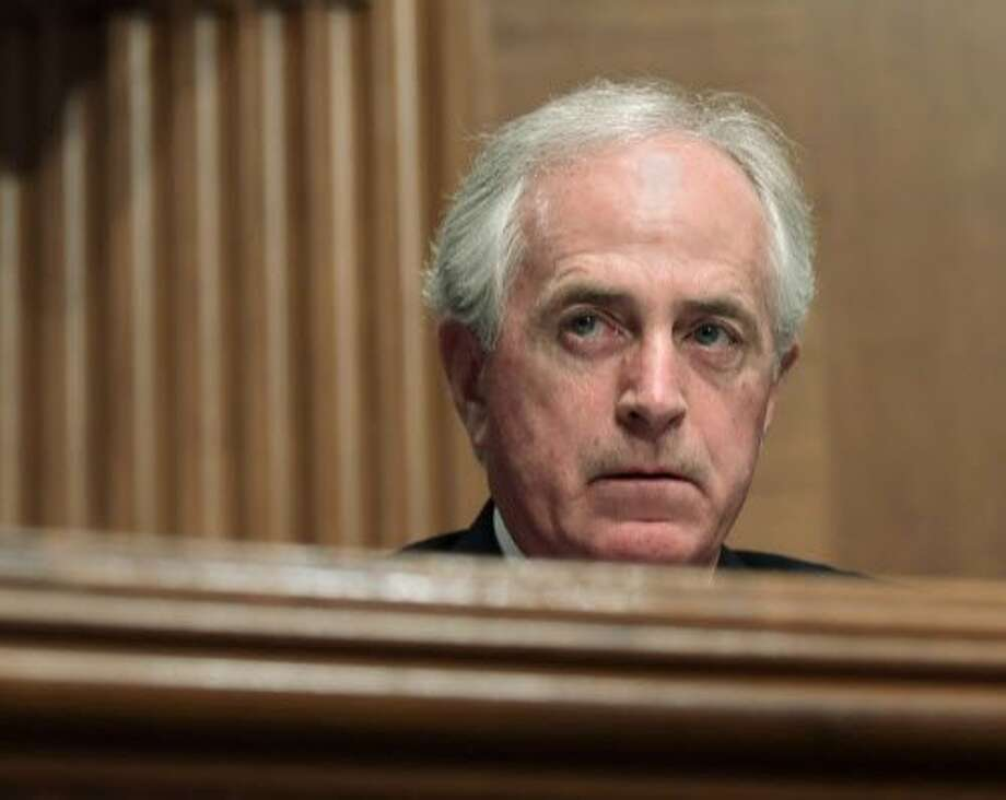 "In this Dec. 5, 2017 file photo, Sen. Bob Corker, R-Tenn., listens during a meeting of the Senate Banking Committee on Capitol Hill in Washington. The Senate Finance Committee chairman on Monday rejected as ""categorically false"" a report that Republican Sen. Bob Corker of Tennessee was responsible for a provision in the final tax bill that could help him financially.   (AP Photo/Susan Walsh) Photo: Susan Walsh, Associated Press"