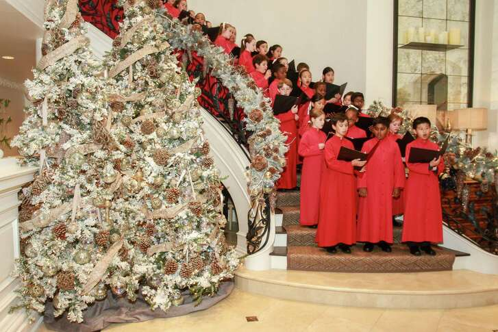 The Houston Children's Chorus performed at the 12th annual Santa''s Elves party.