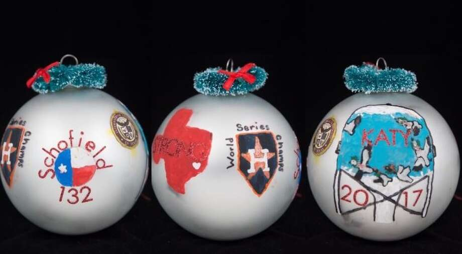 "Katy student Russell Leach created the official District 132 ornament for State Rep. Mike Schofield's office. It depicts the ""strength of our community in the wake of Hurricane Harvey, commemorates the historic World Series win of the Houston Astros, and includes a nod to the iconic prairies and geese of historic Katy."" Photo: Courtesy Photo"