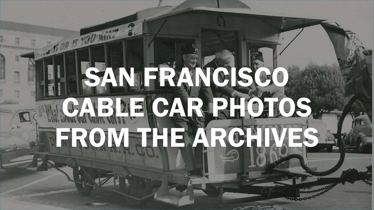 San Francisco cable car photos from the archives