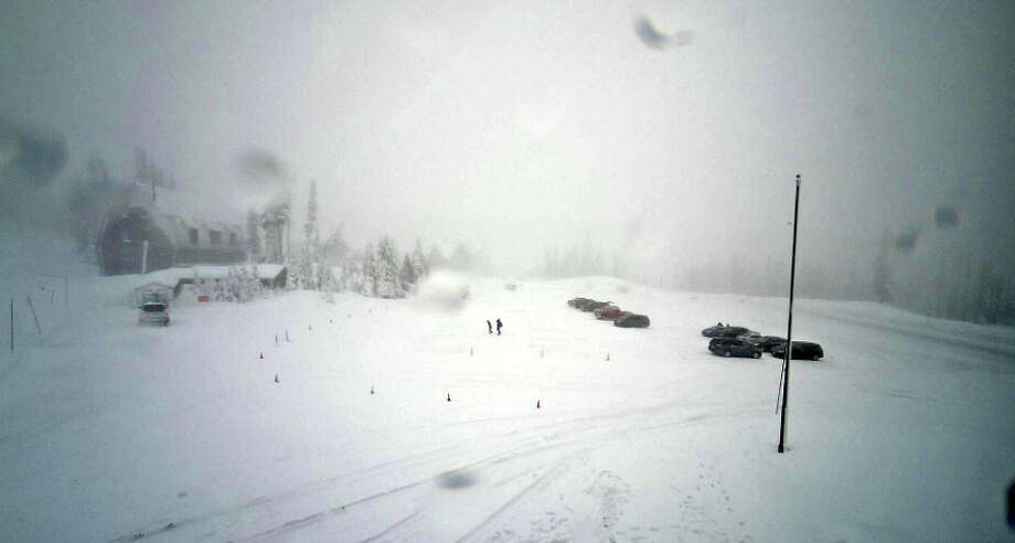 Heavy snows were forecast Monday and Tuesday for the Cascades and Olympics. This was the view Monday afternoon from Paradise at Mount Rainier National Park. Photo: National Parks Service