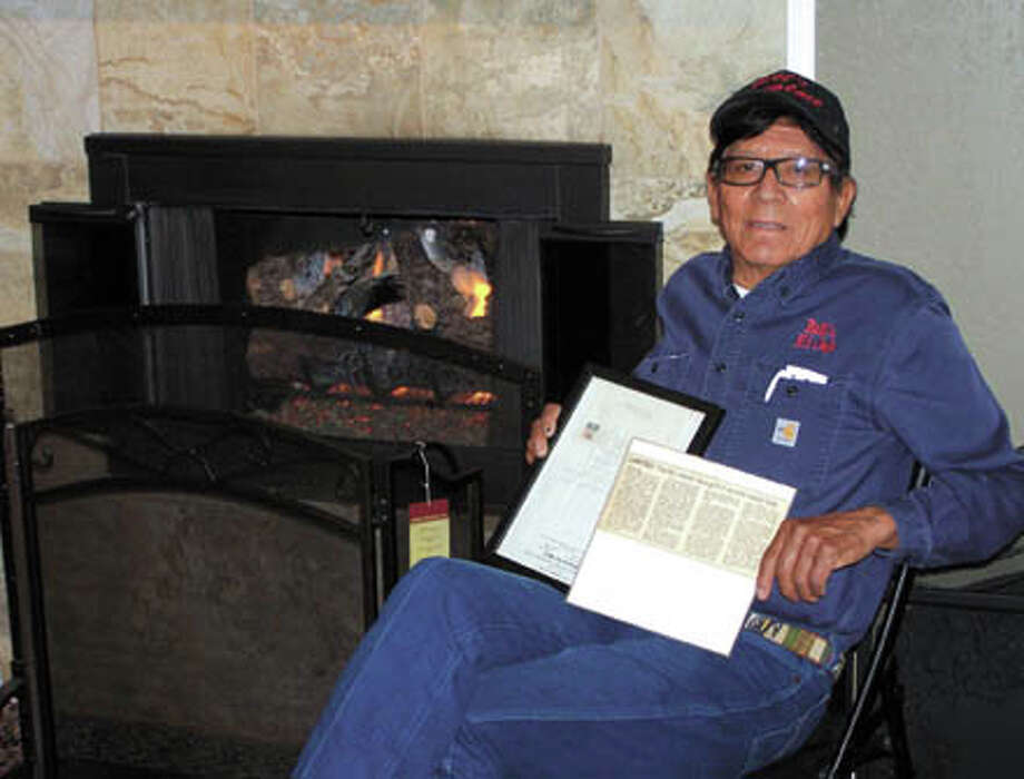 Get a special deal on warm gas fireplace logs now. Call  Bill's Fireplace and get free cleaning of your firebox and a free check  of your gas valve for leaks when you buy a Peterson gas log set.Here Bill Rodriguez displays two treasures: A 1969 letter  from Odessa's William A Graham offering to sell Graham's business, The  Home Store, to Bill; and a newspaper article telling how Bill and family  are all involved in helping the community. Photo: Paul Wiseman