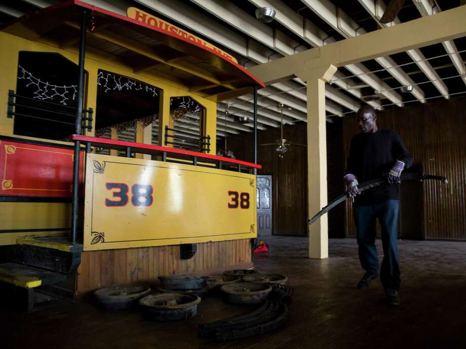 PHOTOS: Spaghetti Warehouse gets taken away piece by pieceTroy Barlow stacks heavy pieces of metal bought by his employer at the Spaghetti Warehouse downtown location in Houston on Monday, Dec. 18, 2017.See more photos from inside the abandoned downtown restaurant... Photo: Annie Mulligan / @ 2016 Annie Mulligan