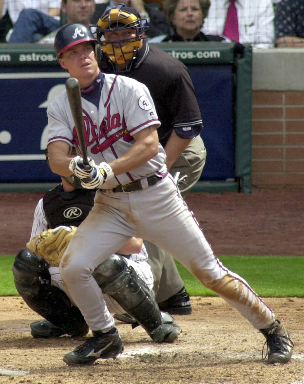 Former Atlanta Braves third baseman Chipper Jones is one of six players David Borges including on his BBWAA Hall of Fame ballot this year.