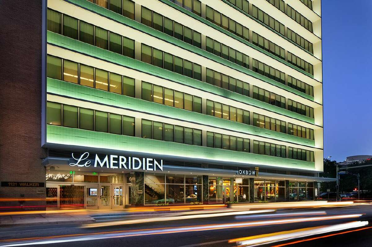 What was once the Melrose Building, a 21-story office tower, is now the Le Méridien hotel in downtown Houston.