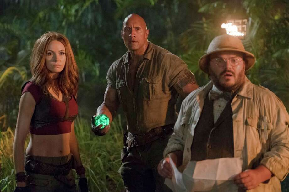 """Jumanji: Welcome to the Jungle""""Baywatch,"" the last remake/reboot that The Rock was involved with, didn't do so well, but maybe he'll have better luck with this revival of the 1995 family action-adventure that starred Robin Williams. The Rock is supported by a cast that includes Kevin Hart, Jack Black and Nick Jonas.Opened Wednesday. Playing throughout Houston. Photo: Frank Masi, HONS / ©2017 CTMG. All Rights Reserved. **ALL IMAGES ARE PROPERTY OF SONY PICTURES ENTERTAINMENT INC. FOR PROMOTIONAL USE ONLY. SALE, D"