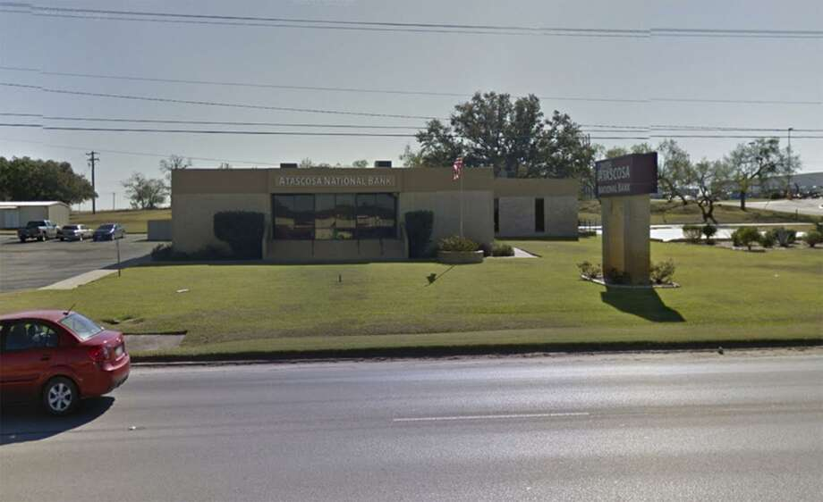 Atascosa Bank is now a state-chartered bank after it converted from a national bank Friday. The bank's Pleasanton headquarters are pictured in this Google Maps screengrab. Photo: Screengrab /