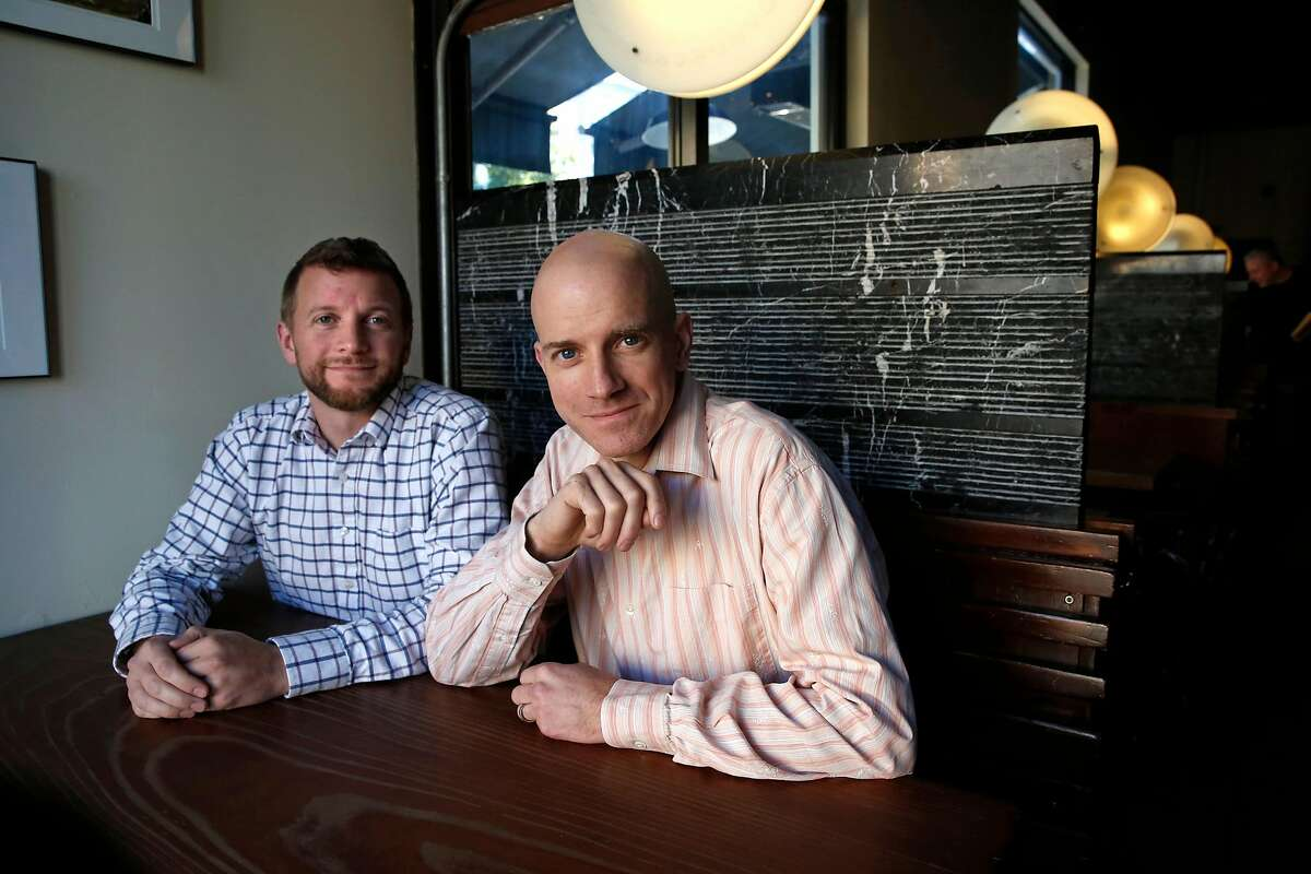 Owners Nat Cutler (left) and Christian Albertson at Monk's Kettle restaurant and bar in the Mission neighborhood on Monday December 18, 2017, in San Francisco, Ca.