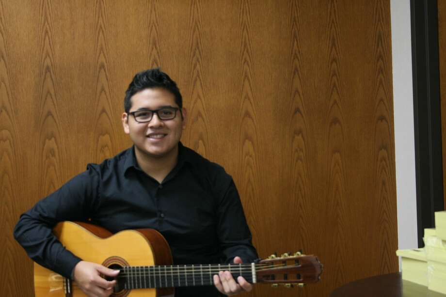 Eighteen-year-old Miguel Ardiles arrived in Midland from Lima, Peru, on Aug. 15. He didn't know much English, but studying music in the United States had been a dream of his for quite some time Photo: Courtesy Photo
