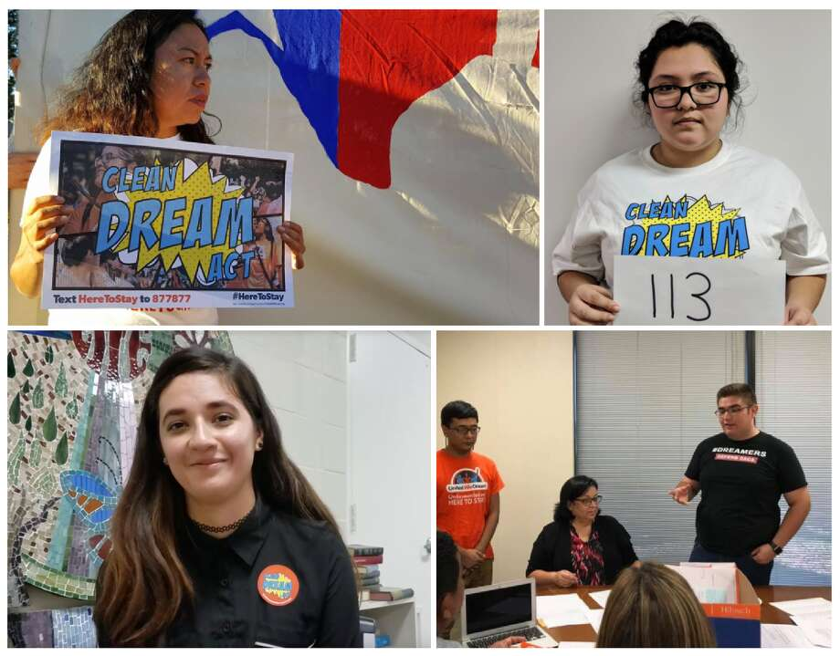 Houston dreamers, clockwise from left: Damaris Gonzalez, Nicole Robles, Christian Urrea and Michelle Avendaño. Photo: Chris Valdez / United We Dream Houston